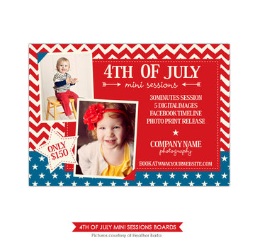 4th of July Marketing board | Red and blue