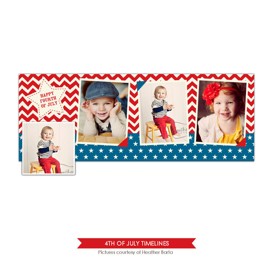 Facebook timeline cover | Chevron and stars