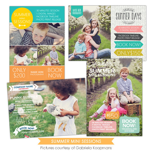 Photography Marketing boards | Summer days