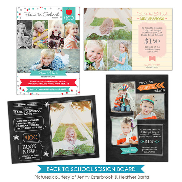 Photography Marketing boards | School days