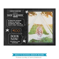 Photography Marketing board | Chalkboard message