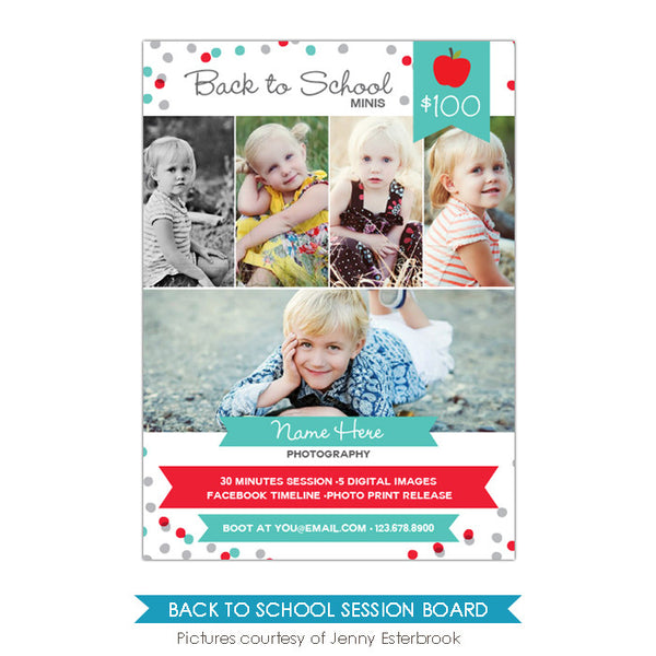 Photography Marketing board | School confetti