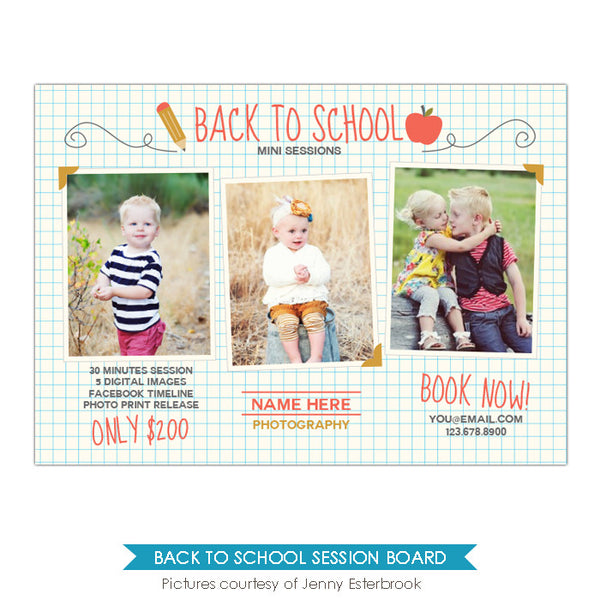 Photography Marketing board | School portraits