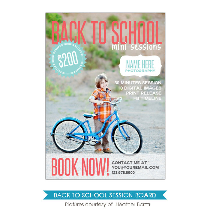 Photography Marketing board | School Cover