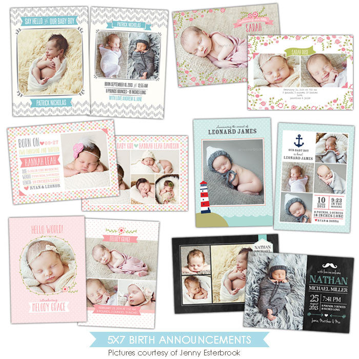 Birth Announcements bundle | Royal babies