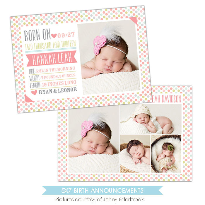 Birth Announcement | Candy dots