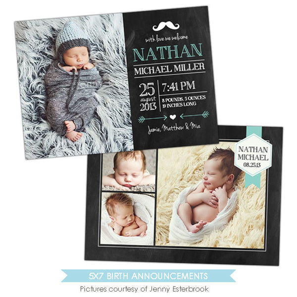 Birth Announcement | Baby Nathan