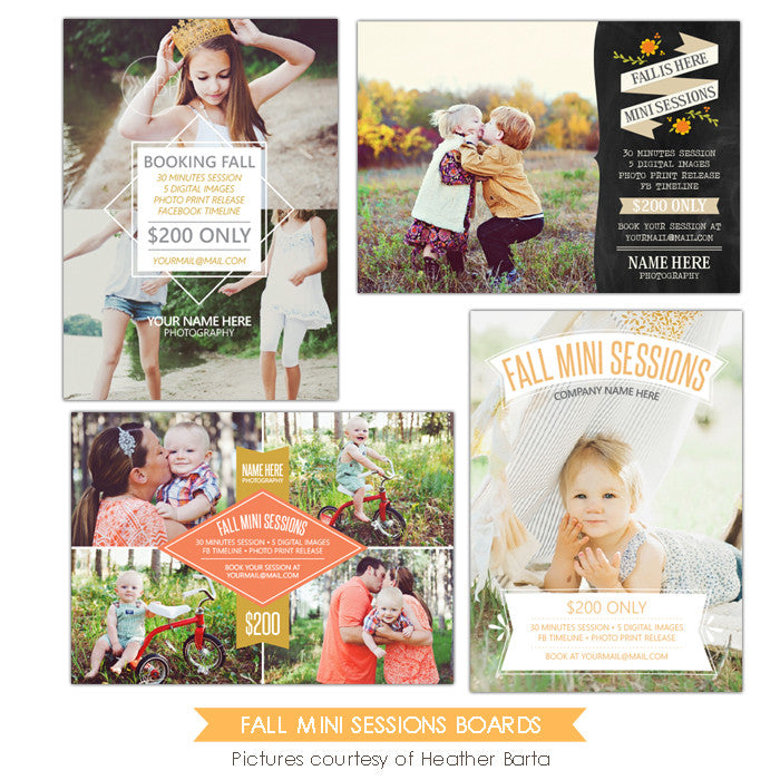Photography Marketing boards | Fall is here