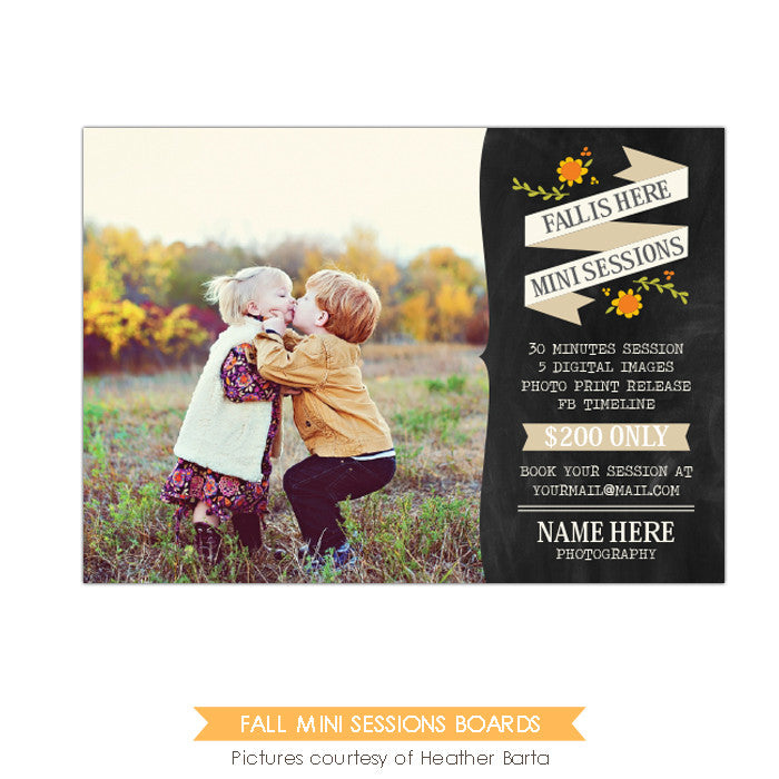 Photography Marketing board | Fall flowers