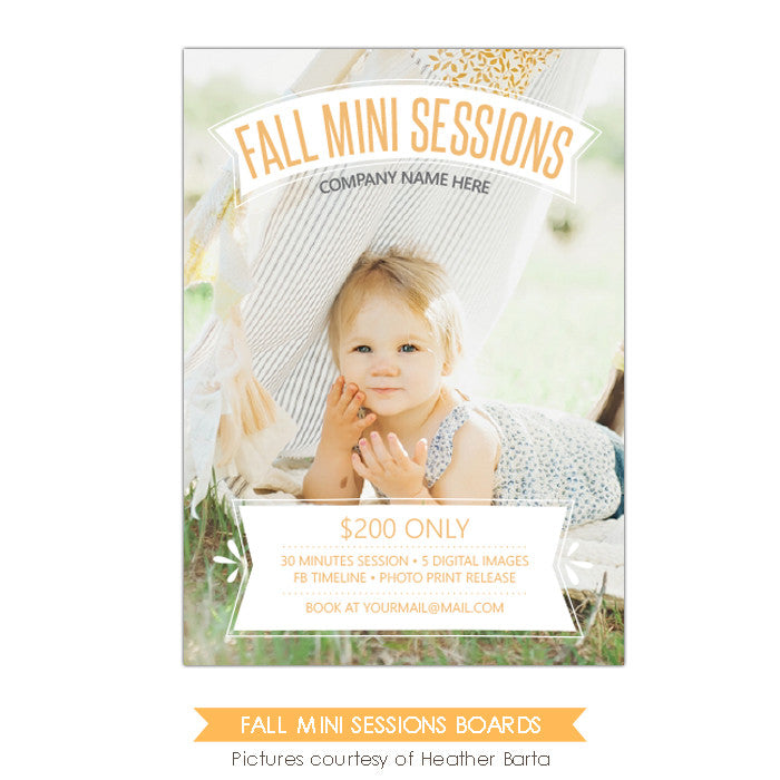 Photography Marketing board | Minis overlay