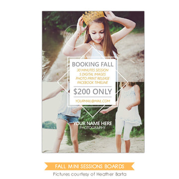 Photography Marketing board | Booking fall