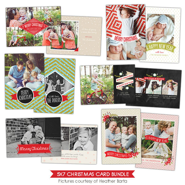 Christmas Photocards Bundle | Holiday Style