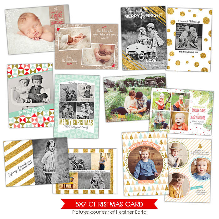 Christmas Photocards Bundle | Christmas Glam