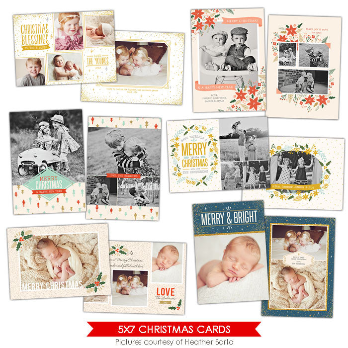 Christmas Photocards Bundle | Christmas Lights
