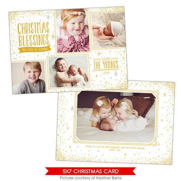 Christmas Photocard Template | Eternal blessings