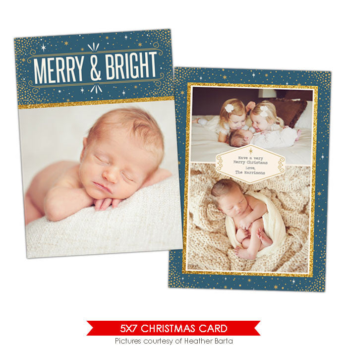 Christmas Photocard Template | Holy night