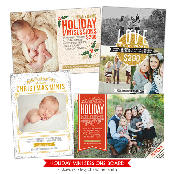 Photography Marketing boards | Holiday Love Minis