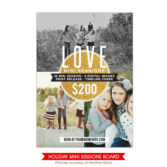 Photography Marketing board | Love circle