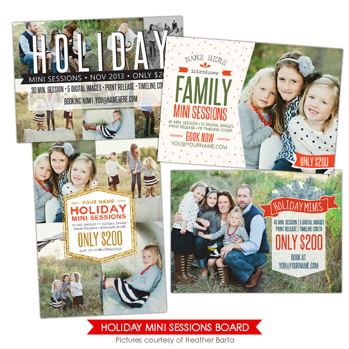 Photography Marketing boards | Family Minis