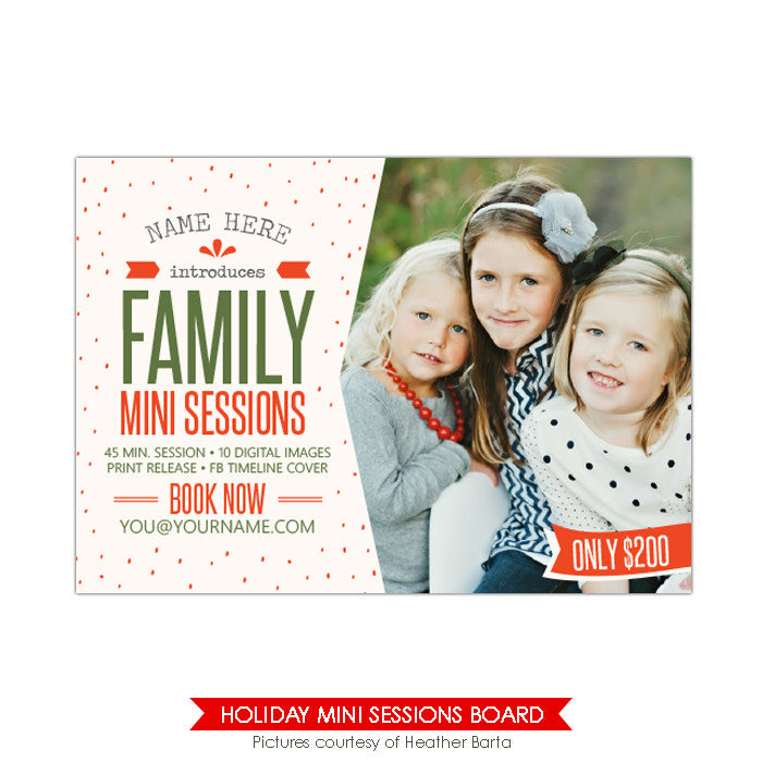 Photography Marketing board | Red & cozy