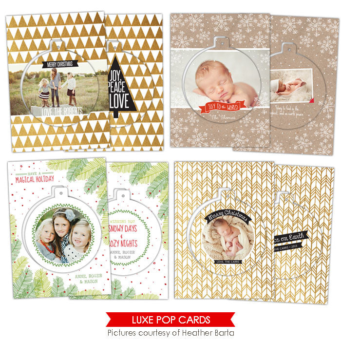 Christmas Luxe Pop Card Templates | Modern trees
