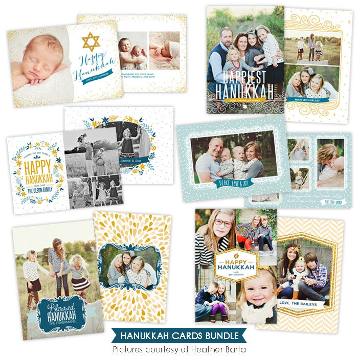Hanukkah Photocards Bundle | Hanukkah Lights - e956