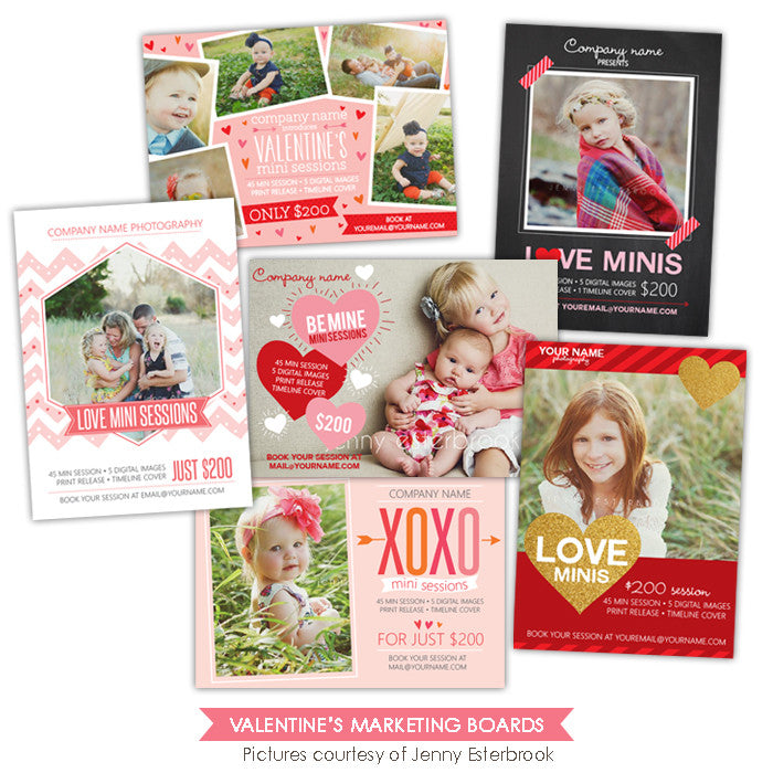 Photography Marketing boards | Hearts bundle