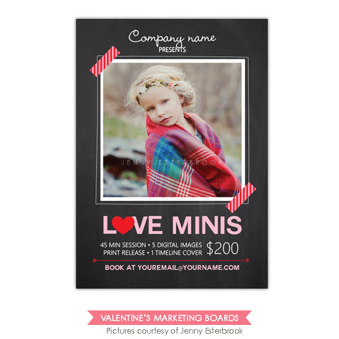 Photography Marketing board | Mini chalkboard