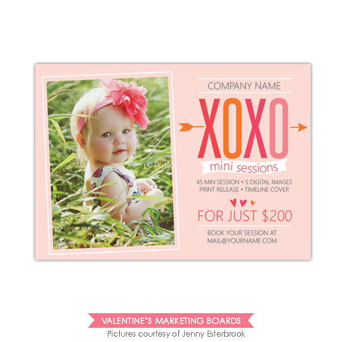 Photography Marketing board | XOXO sessions