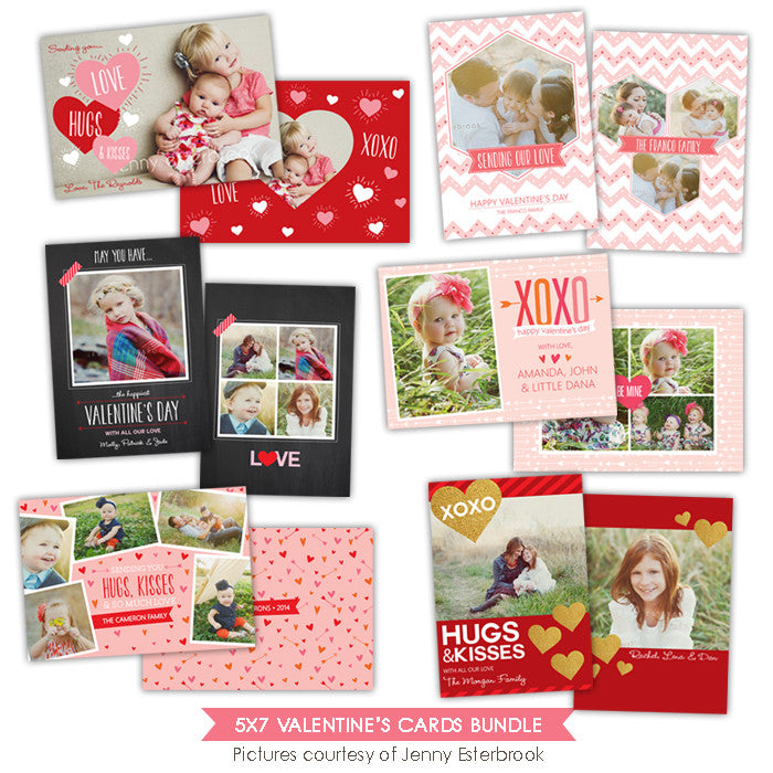 Valentine Photocards Bundle | Chic hearts