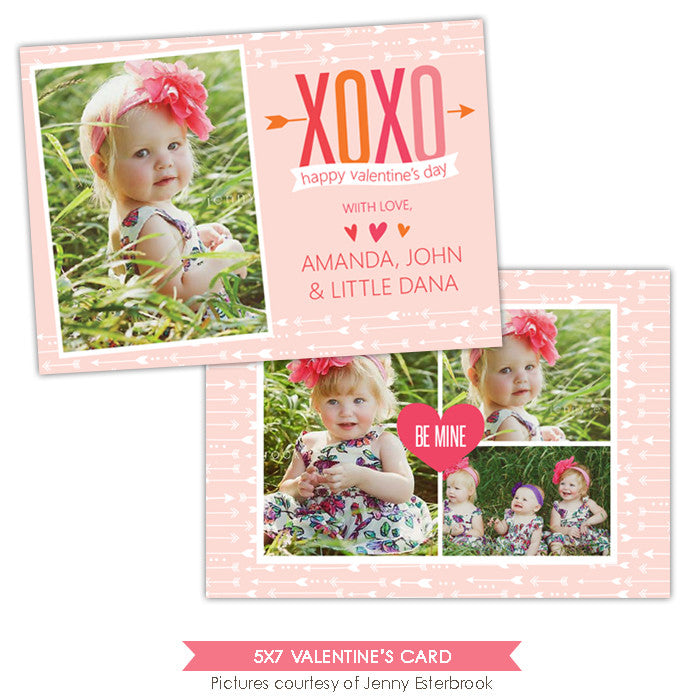 Valentine Photocard Template | Colorful Xoxo