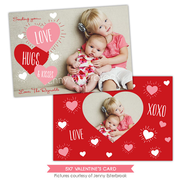 Valentine Photocard Template | Funky love