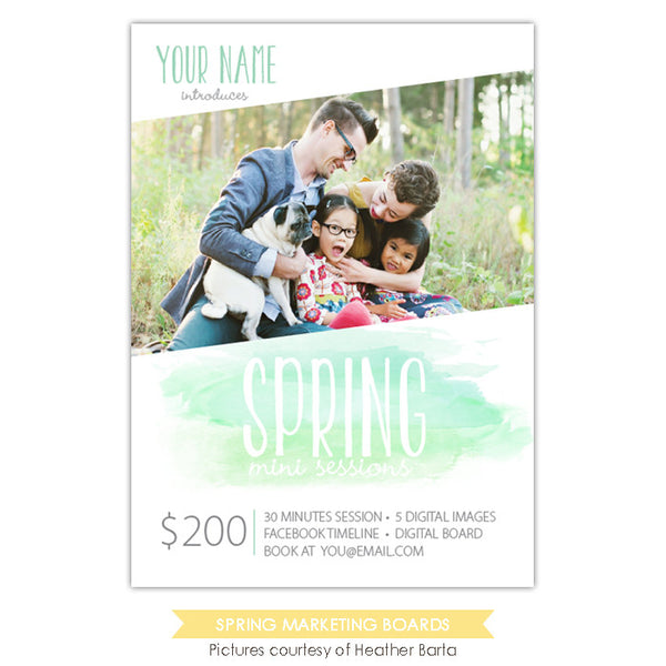 Photography Marketing board | Green Spring