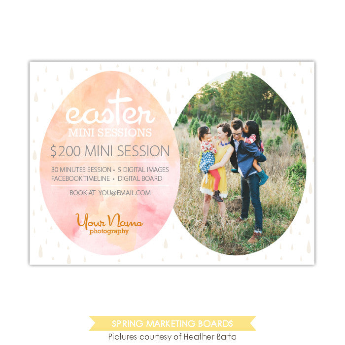 Photography Marketing board | Watercolor egg