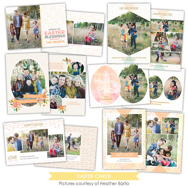 Easter photo cards bundle | Easter sunsets
