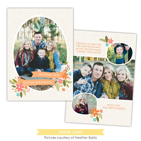 Easter photo card | Spring blessings