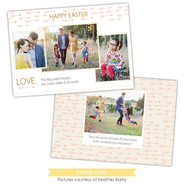 Easter photo card | Easter directions