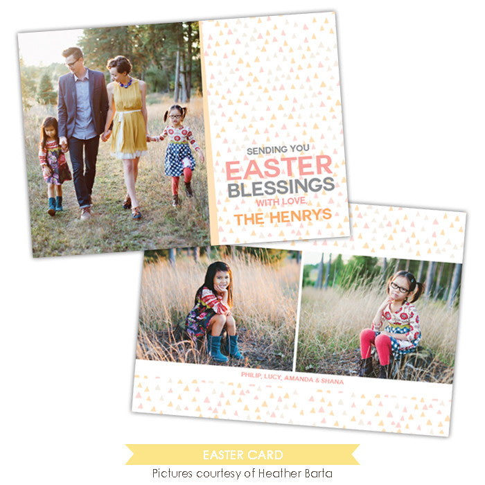 Easter photo card | Special confetti
