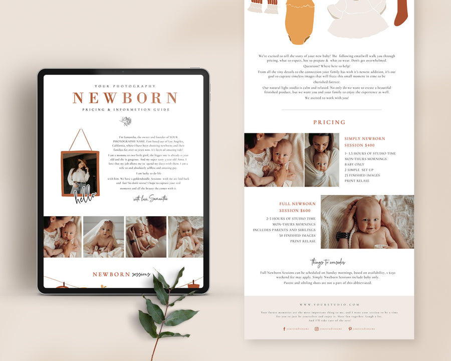 Newborn Photography Email Template