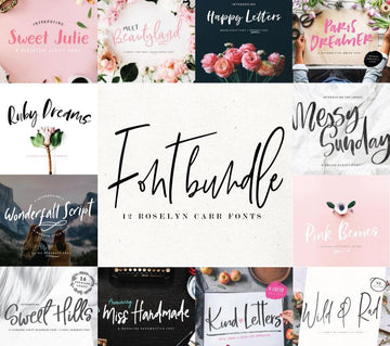 Fonts Bundle - 12 fonts
