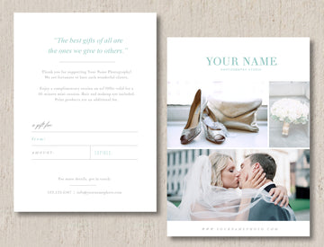 Wedding Photographer Gift Card Template - Monterey