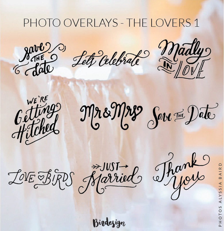 Photo Overlays | The Lovers Vol. 1