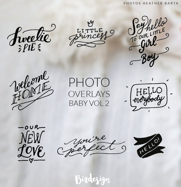 Photo Overlays | Welcome Baby Vol. 2