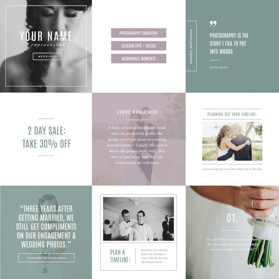 Instagram Templates - Social Media Designs - Venice