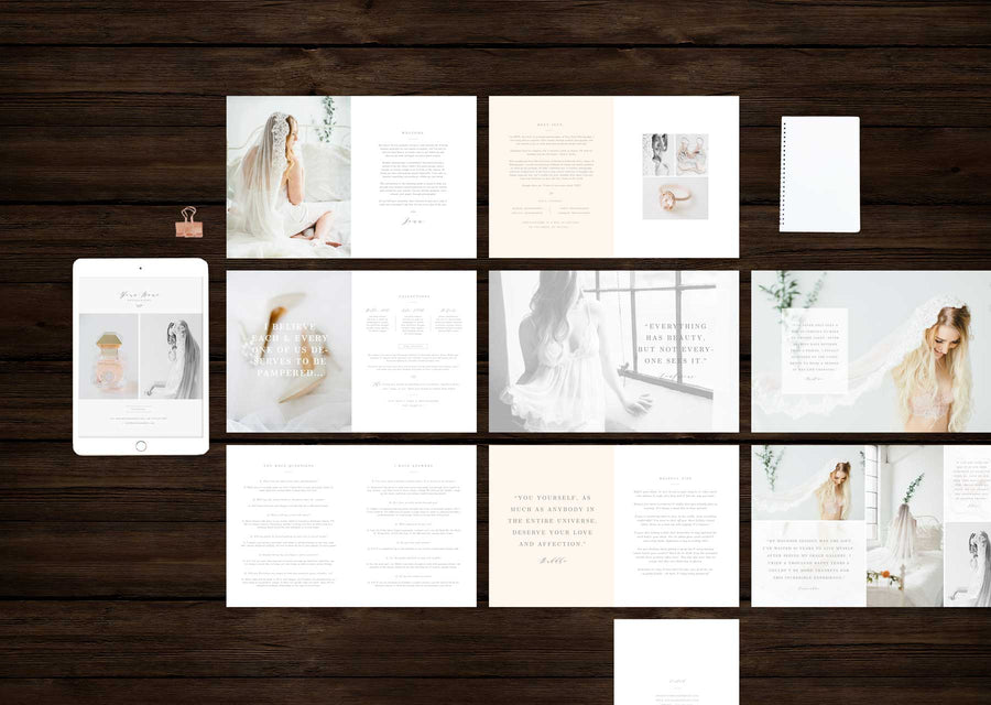 Boudoir Photographer Magazine Template - Aspen