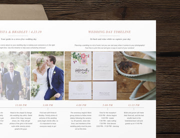 Wedding Day Timeline Template - Laurel