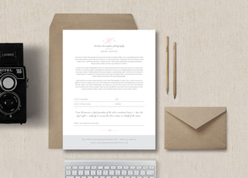 Photographer Model Release Form Template - Eucalyptus