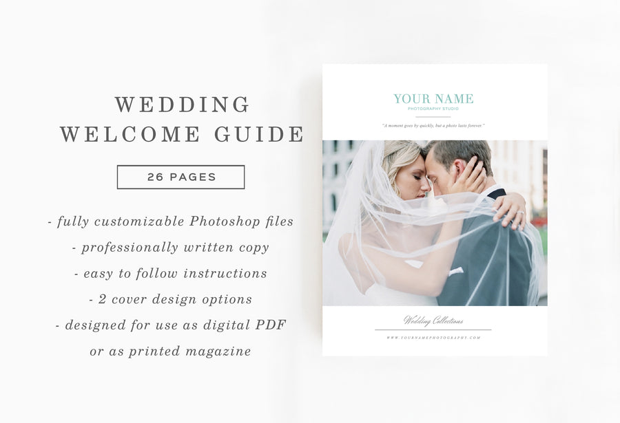 Magazine Template for Photographers & Planners - Monterey