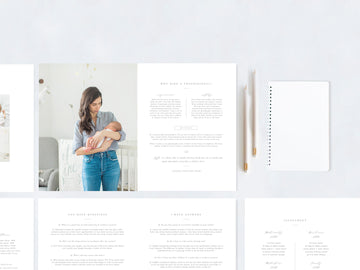 Newborn Photography Magazine Template - Aspen