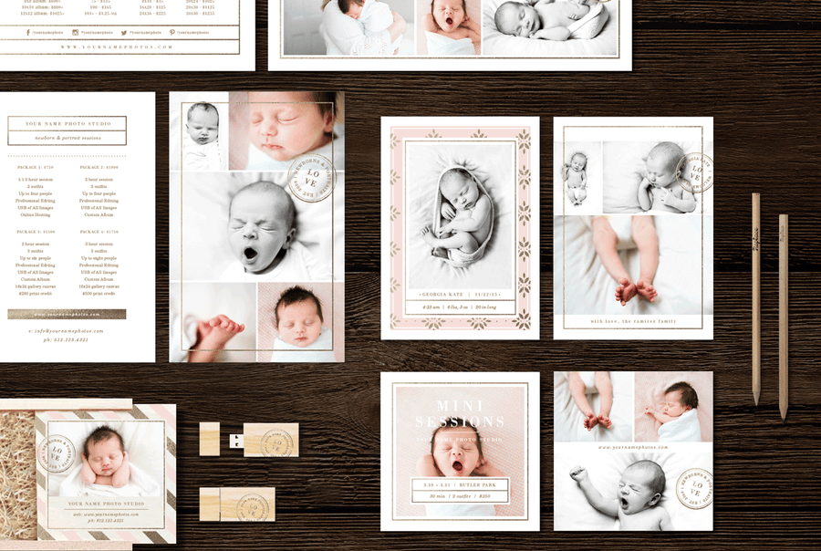 Newborn Photographer Marketing Set - Lily